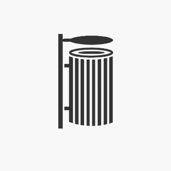 سطل زباله 65 لیتری پارکی