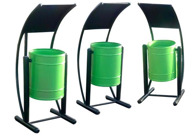 سطل زباله پارکی و مکانیزه
